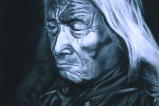 Tableau portrait pastel Indien d