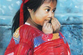 Tableau portrait pastel Indonésie- Innocence