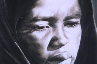 Tableau portrait pastel Maroc- La marocaine