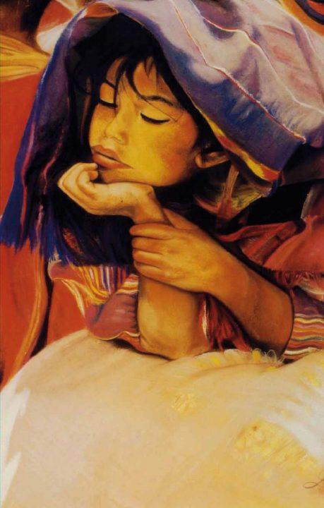 Tableau portrait pastel indonésie - Rêve d